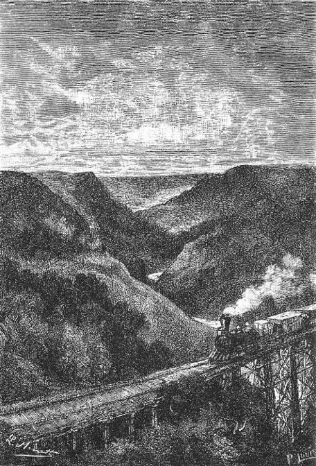 Le rail-road atteignait le plus haut point de son parcours.