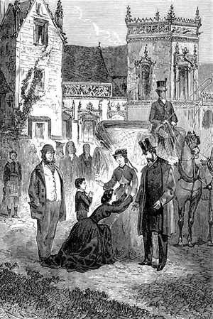 —¡Mi padre! ¡Mi pobre padre! —exclamó Mary— echándose de rodillas a los pies de Lord Glenarvan.