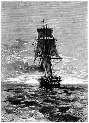 El Duncan seguía con maravillosa velocidad el rumbo de Vespucio y de Magallanes.