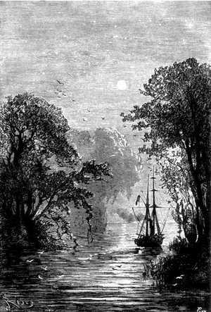 El Duncan costeaba la península de Brunswick, entre dos panoramas espléndidos.