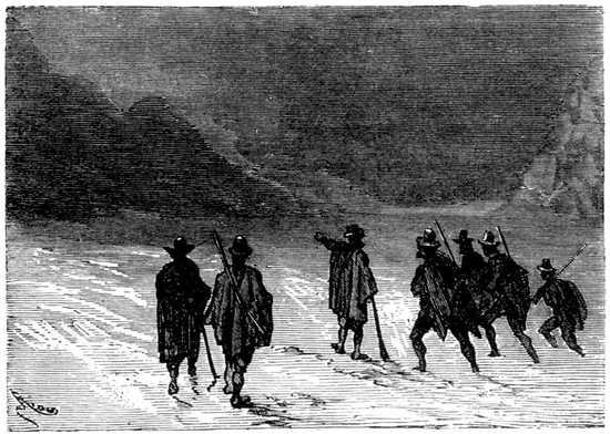 La caravana, a pesar de su valor, sentía agotarse sus fuerzas.