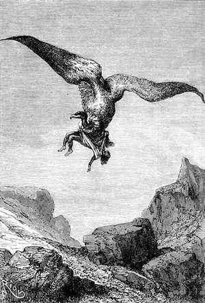 El cuerpo inanimado que aparecía suspendido de las garras del cóndor, era el de Roberto Grant.