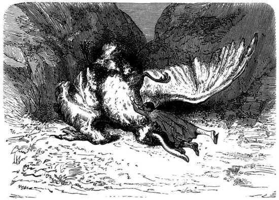 Cuando llegaron, el ave había muerto, y el cuerpo de Roberto desaparecía bajo sus enormes alas.