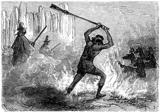 La barrera de fuego exasperó su cólera.