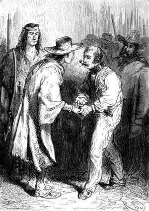 Yo soy francés también —repitió sacudiendo el brazo del sabio con un vigor alarmante.