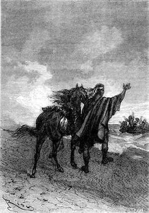 —<i>¿Quién sabe?</i> —respondió Thalcave, señalando al cielo.