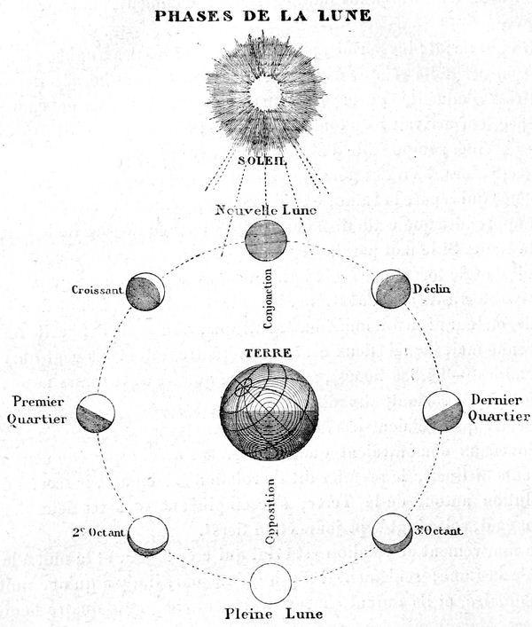 El movimiento de traslación de la luna