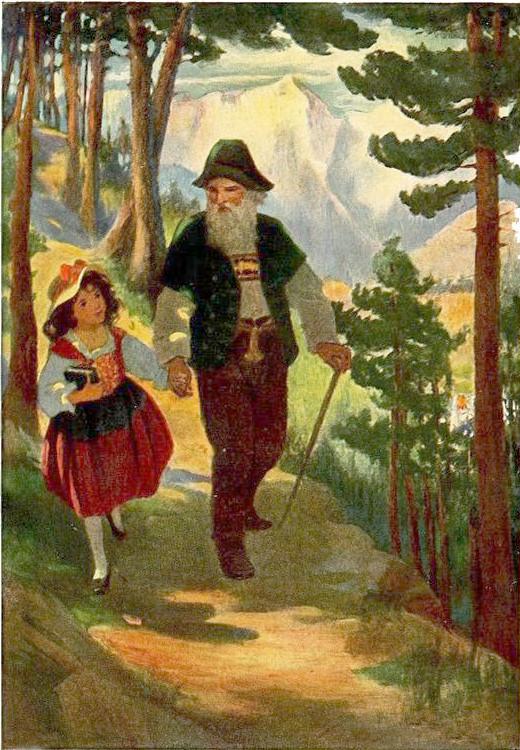 Y tomando a Heidi de la mano, comenzaron el descenso de la montaña