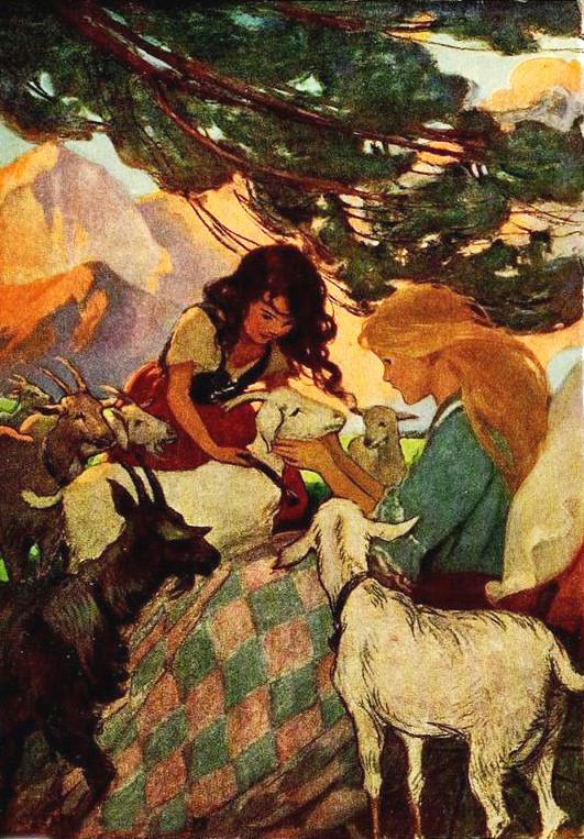 Las dos niñas se vieron rodeadas por los animales