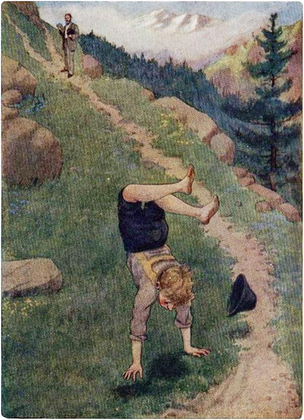Bajó toda la pendiente de la montaña dando tumbos