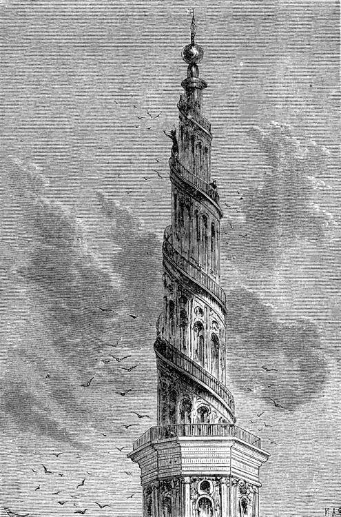La aguja del campanario de Vor-Frelsers-Kirk